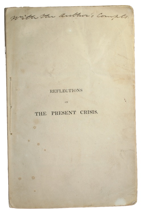 "Photo of ""Reflections on the present crisis"""
