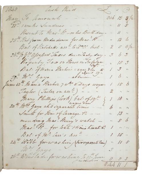 "Photo of ""[Manuscript household accounts of Charles ..."""