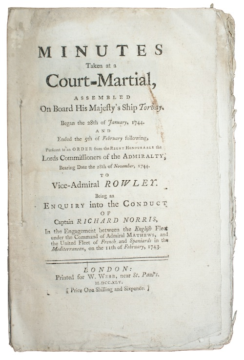 "Photo of ""Minutes Taken at a Court-Martial, ..."""