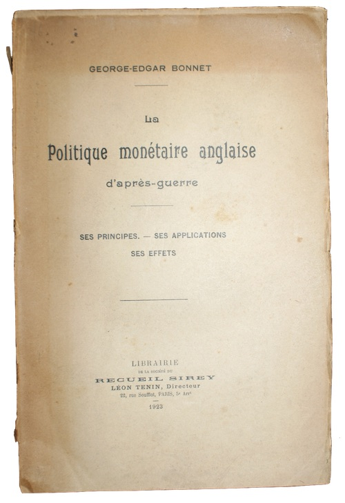 "Photo of ""La Politique monetaire anglaise d'apres-gurre"""